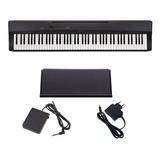 Piano Digital 88 Teclas Px160 Bk Preto Casio Com Pedal