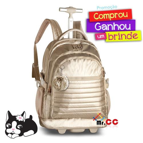 4d0597263 Kit Mochila Rodinhas Escolar Juvenil Rebecca Bonbon Dourado à venda ...