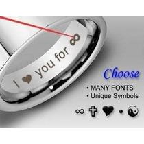 Gravação A Laser Customizada - Anéis E Outros Materiais