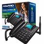 Telefone Celular Fixo Gsm Rural De Mesa Aquário Ca40 3g