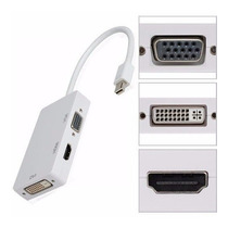 Cabo Adaptador Mac Thunderbolt/mini Displayport 3x1 Hdmi Vga