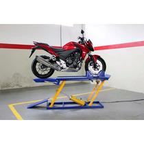 Elevador Pneumático Para Motocicletas Chapa Xadrez P/400 Kg