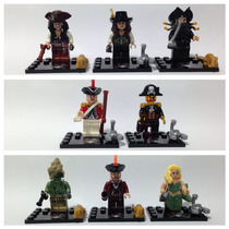 Lego Compatível - Kit 8 Bonecos - Piratas Do Caribe (b)