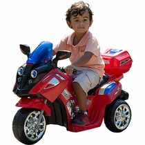 Moto Elétrica Infantil Om1858a Max Speed Vermelha 12v Brink