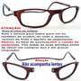 Armação Para Óculos De Grau Leitura Fechamento Imã Marrom N1