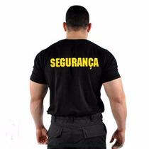 Camiseta Preta - Modelo Segurança Em Amarelo