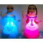 Boneca Elsa E Anna Filme Frozen Led Canta E Dança