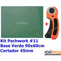 Kit Base De Corte 90x60cm + Cortador 45mm Patchwork #11