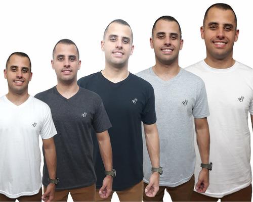 Kit 5 Camisetas Básica Camisa Gola V Original Top Qualidade 62256c4b77043