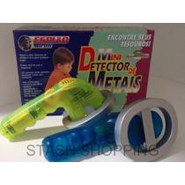 Brinquedo Mini Detector De Metais Kit Espião Candide À Pilha