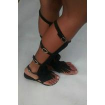 Sandália Gladiadora Franjas