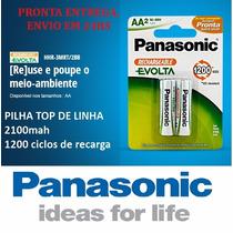Pilha Recarregavel Panasonic Aa Evolta 2100mah Top De Linha