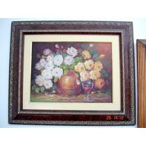 Obra L. Machado Flores Ost 30x40cm Belíssimo