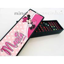 10 Dominó Personalizado Minnie Rosa Lembrancinha Aniversário