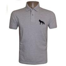 Camisa Acostamento Gola Polo Camiseta Cinza