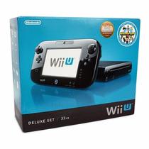Nintendo Wii U 32gb Deluxe Completo + Jogo Nintendo Land