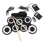 Bateria Eletronica Musical Portátil Roll Up Com Baqueta B1