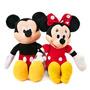 2 Pelucias, Mickey E Minne Vermelha Musicais Originais 40cm Original