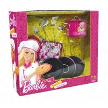 Kit Chef Cozinha De Metal Barbie Bb8841