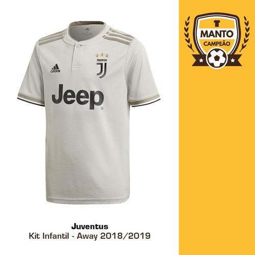 7aa6911cc Kit Infantil Juventus 2018 2019 Away Ronaldo Frete Grátis