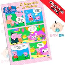 Arte Convite Aniversário Infantil Gibi Peppa Pig Criança