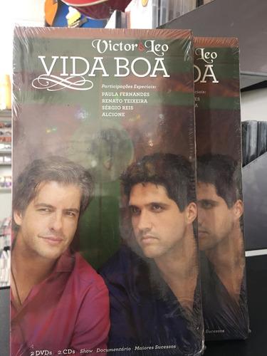 42eb48f50e69c Victor   Léo Vida Boa - 2 Dvds + 2 Cds Lacrado!
