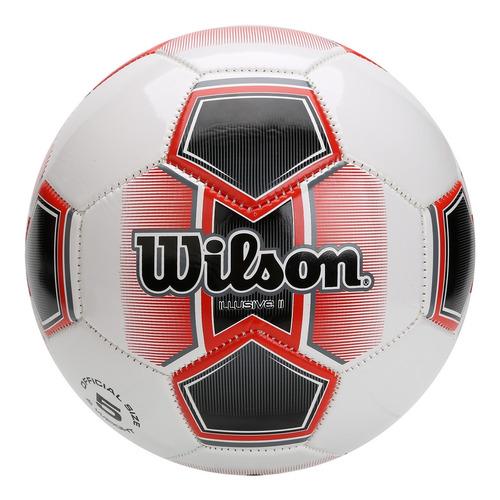 Bola De Futebol Wilson Illusive Ii Tamanho 5 - Branca Com Ve 0eeadb0ab41e1