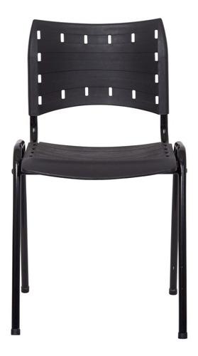 Cadeira Iso Preta Plástica Igreja Recepcao
