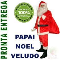 Roupa Em Veludo Para Papai Noel Roupa 7 Itens - Frete Grátis