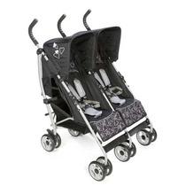 Carrinho Para Bebê Gêmeos Double Omega Black Safety F/grátis