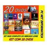 Kit Dvds Profissional P/ Formatação Pc E Notebook Completo