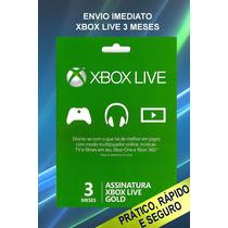Cartão Xbox Live Gold 3 Meses
