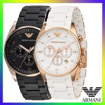 Relógio Emporio Armani Ar5905 Preto Ar5919 Branco C/ Caixa !