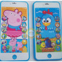 Kit 10 Celulares Brinq Galinha E Peppa Infantil Stil Iphone6