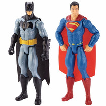 Batman E Superman 2 Bonecos Articuladas 30 Cm - Liga Da Just