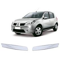 Kit Cromado Em Adesivo P/ Grade Renault Sandero
