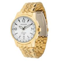 Relógio Masculino Dourado Clássico Backer 3019175m