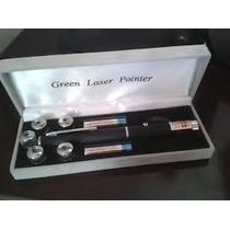 Caneta Laser Pointer Verde Green 5000mw Alcança 8km 5 Pontas