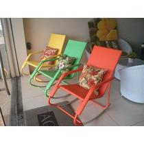 Cadeira De Balanço Em Fibra Sintética. New Design C/ Nf.