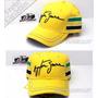 Boné 100% Oficial Ayrton Senna Design Capacete Tri Campeão