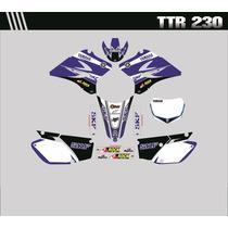 Adesivos Gráficos Personalizados Moto Ttr 230 Cola 3m
