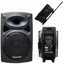 Caixa De Som Amplificada Portátil 15 Pol Usb Radio Fm Mic Nf