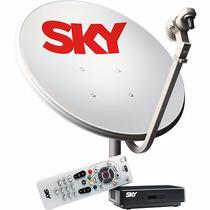 Receptor Digital + Antena De 60cm Sky Pré-pago Flex Sd
