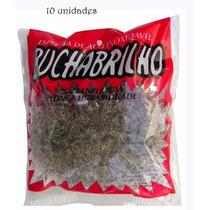 Esponja De Lavar Louça Bucha Brilho Aço Inox 10 Unid
