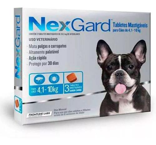 Antipulgas E Carrapatos Merial Nexgard Cães 4 A 10 K+brinde