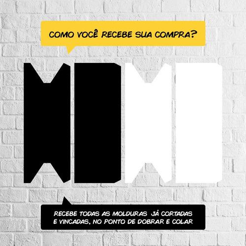 04876ed5a Kit 10 Quadros Decorativos Moldura De Papel Cartão + Brinde - R  42 ...