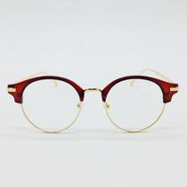 316e9ad39a1e2 Armação Oculos De Grau Geek Vintage Gato Redondo Retro Barat à venda ...