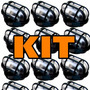 Kit 7 Luminária Tartaruga Grade P/ Teto Parede Exterior