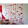Cortina Coração Decoração Papel Dia Dos Namorados(a Fileira)