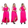 Vestido Longo Plus Size Bolinhas Botões Poá Blogueira Até G3 Original